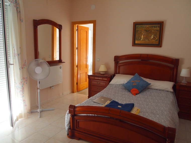 my room at the villa in Mollina