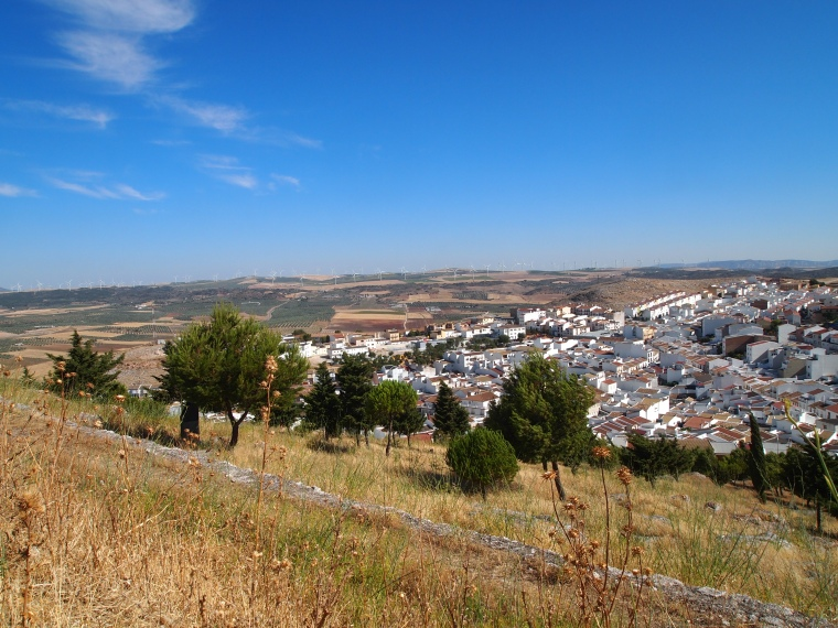 view from Castillo de Teba