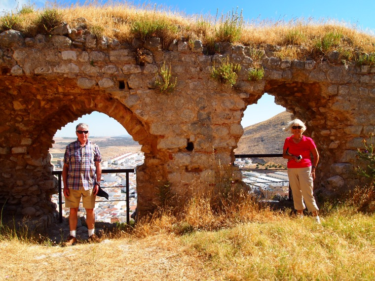 Barry and Carol at Castillo de Teba