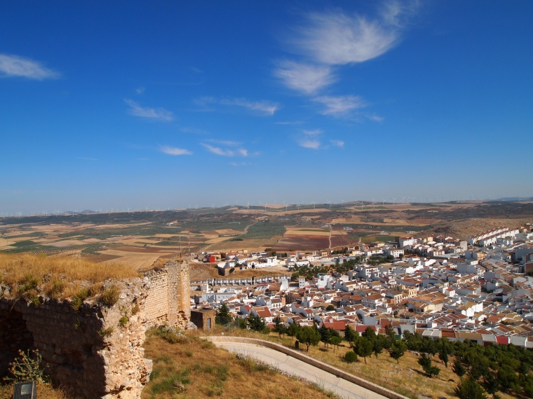 view from Castillo de Teba