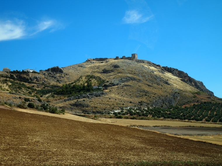 looking back at Castillo de Teba