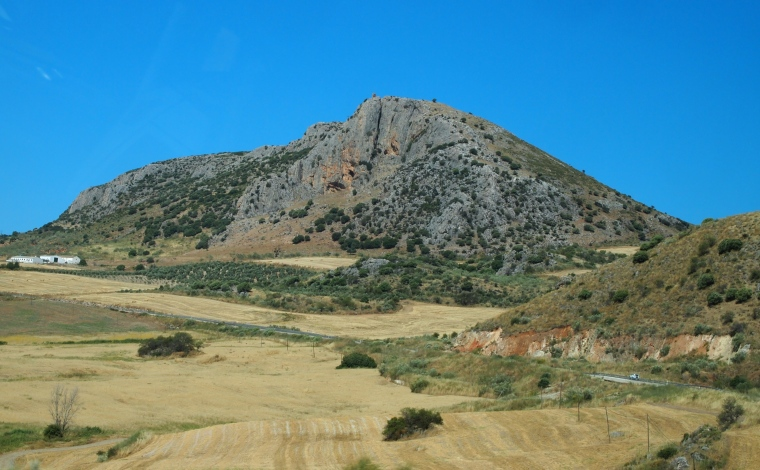 landscape on the drive to Ronda