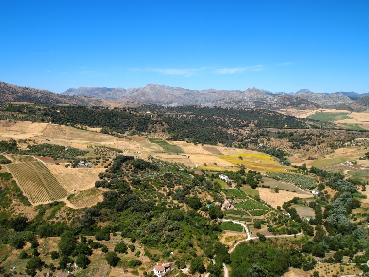 amazing view from the cliffs of Ronda