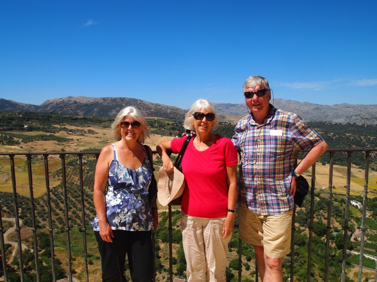 me, Carole and Barry at the top of the gorge in Ronda