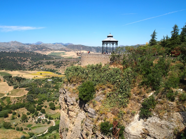view from the cliffs of Ronda