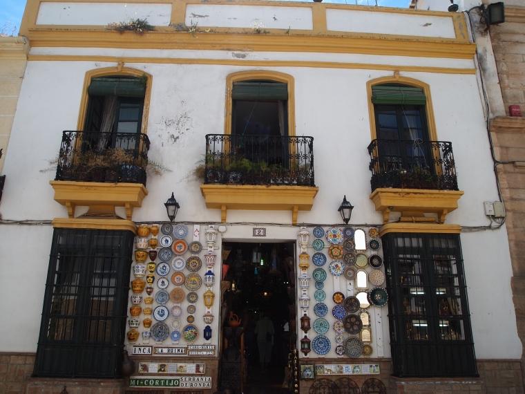 balconies in Ronda