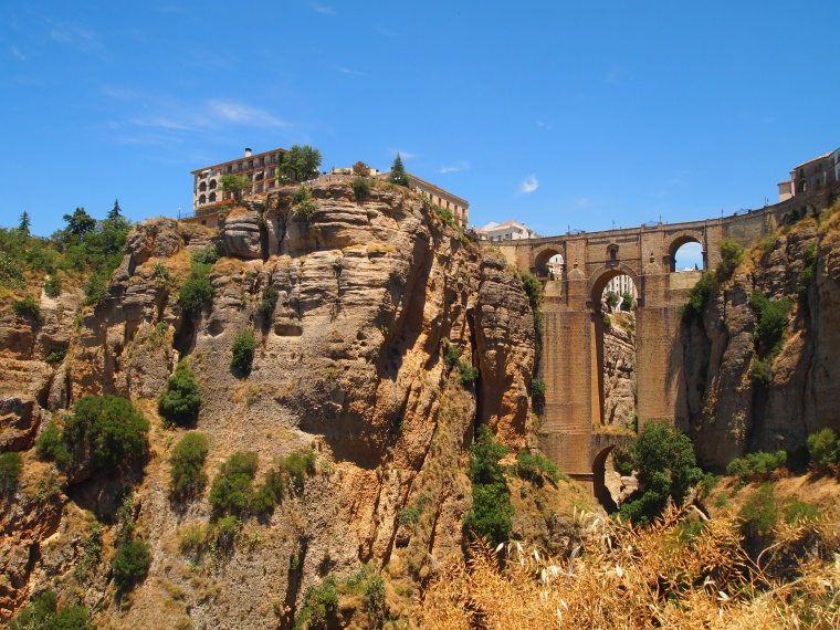 view of Ronda to the left of the New Bridge