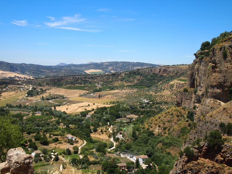 the valley below Ronda