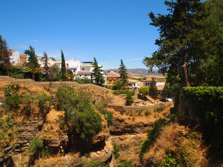 view from gardens ofPalacio del Rey Moro