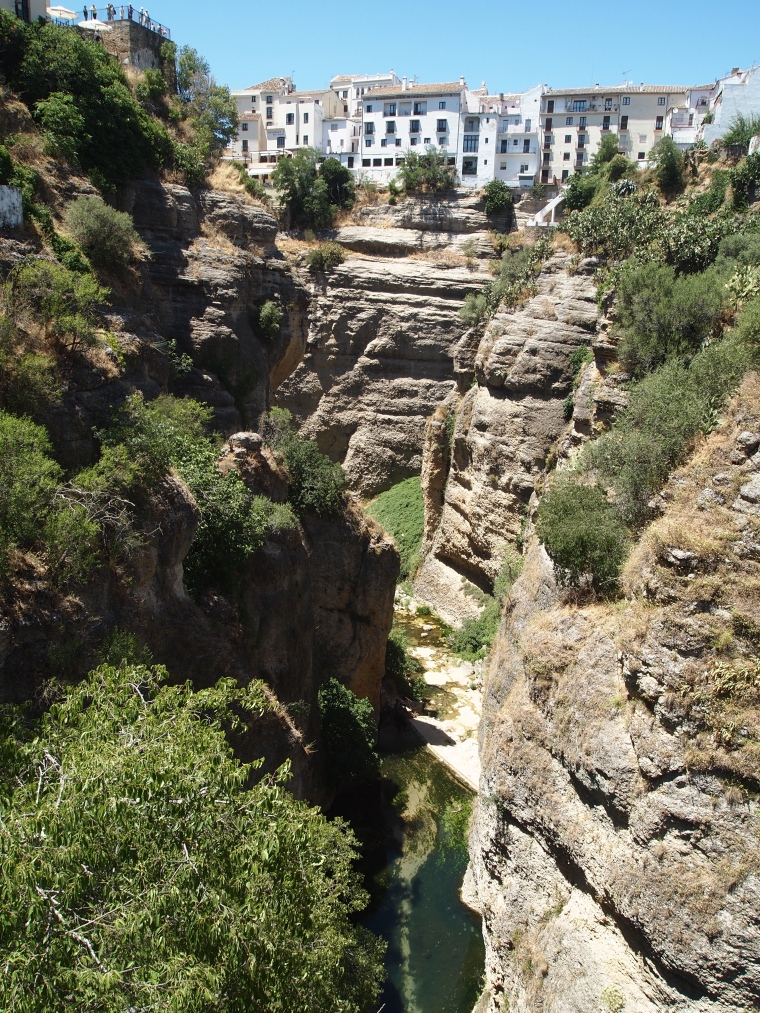view of the gorge fromPalacio del Rey Moro