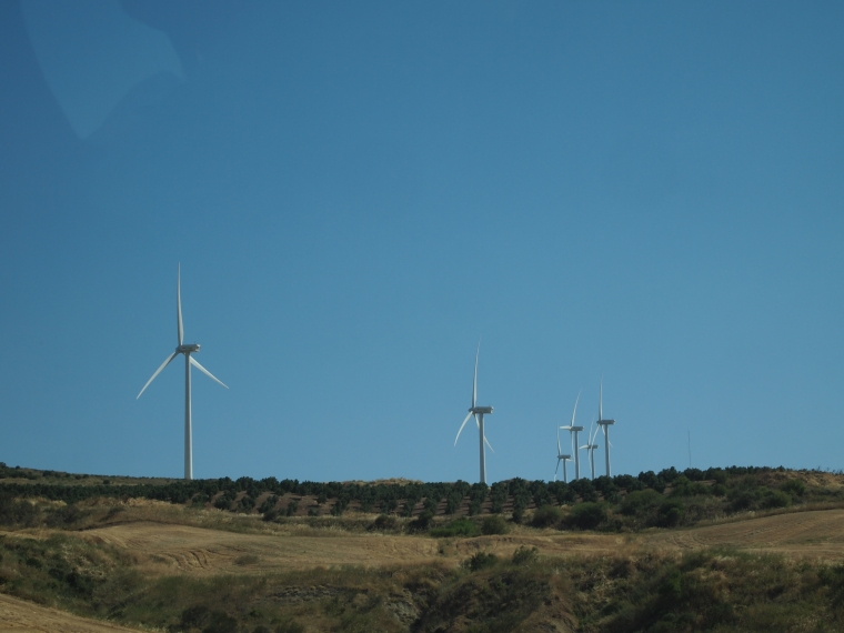 wind farms on the way home