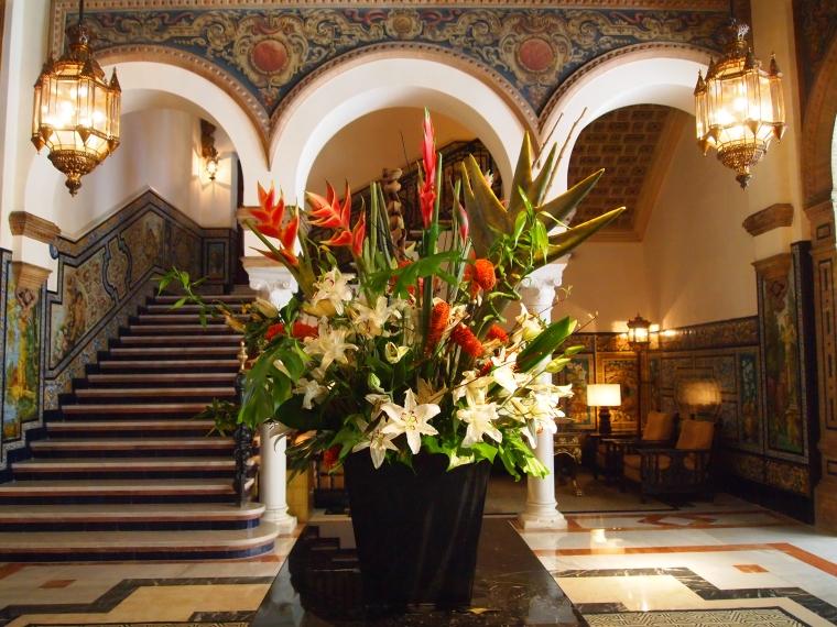 Inside Hotel Alfonso XIII for a bathroom break :-)