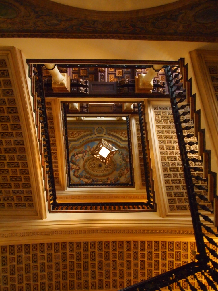 the staircase at Hotel Alfonso XIII
