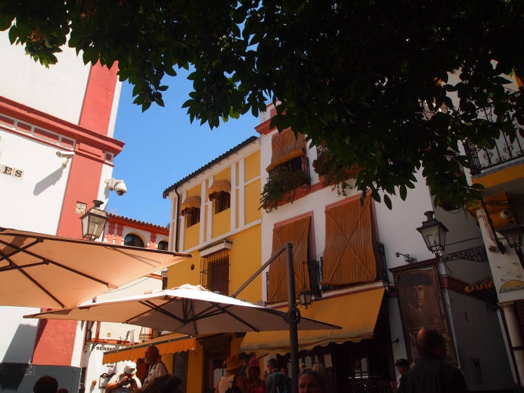 the view of the square from Hosteria del Laurel