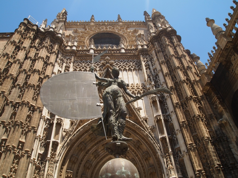 entrance to Seville Cathedral