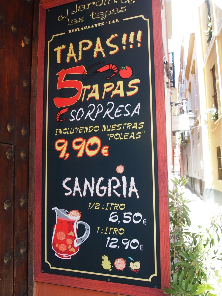 a common sign on streets throughout Spain