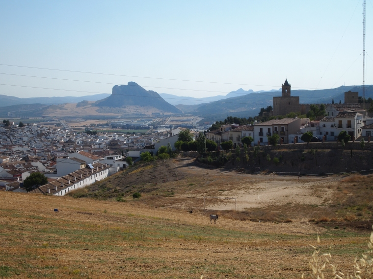 view of the Sleeping Giant as we drive to El Torcal