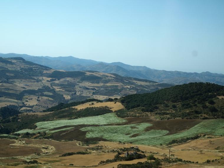 Driving up El Torcal
