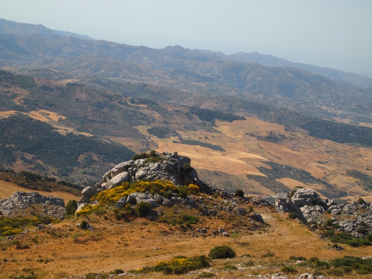 the view from the road to El Torcal