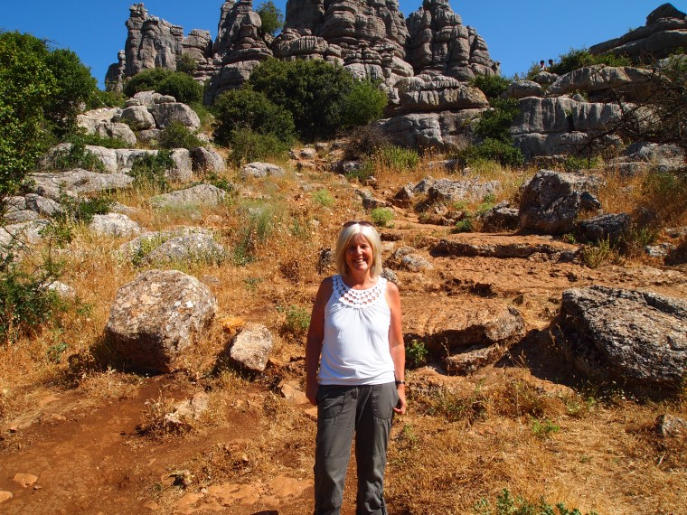 me at El Torcal Nature Reserve