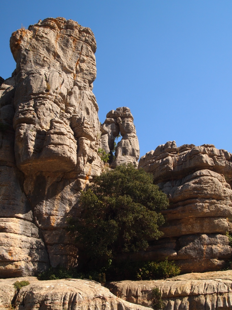 a tunnel of sorts at El Torcal Nature Reserve
