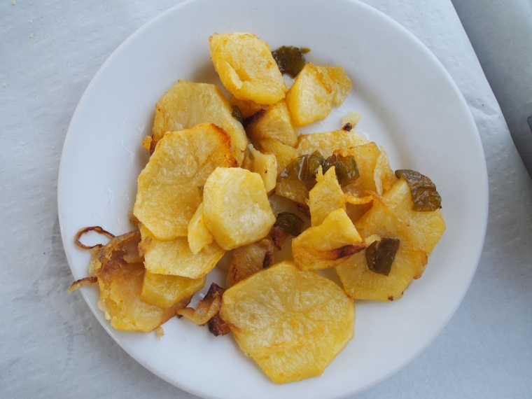 potatoes with peppers