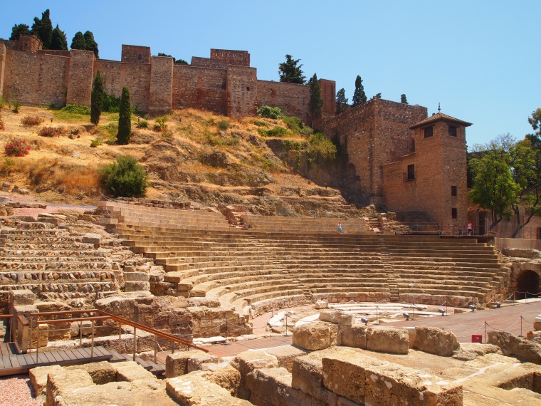 the Roman Theater in Málaga