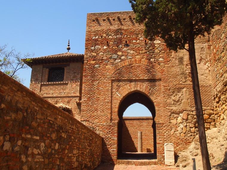 the entrance to the Alcazaba