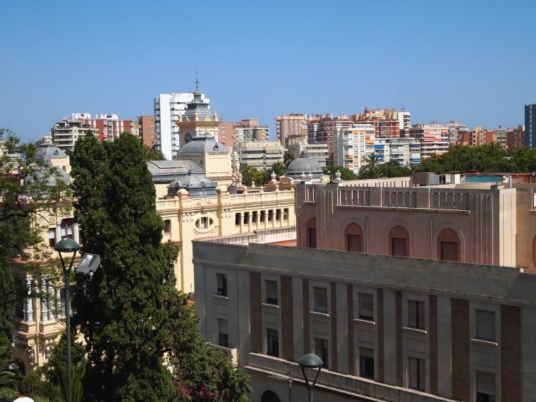 view of the harbor from Alcazaba de Malaga
