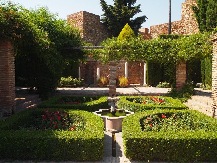 gardens in the Alcazaba de Malaga