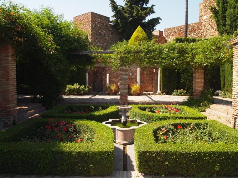 gardens in the Alcazaba de Malaga