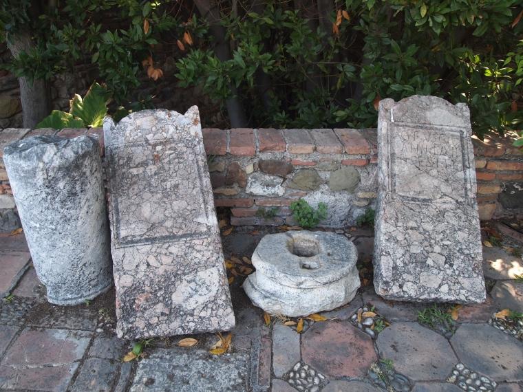 stones in the Alcazaba de Malaga