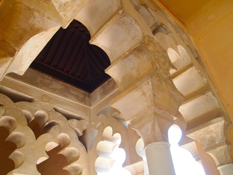 beautiful arches in the Alcazaba de Malaga
