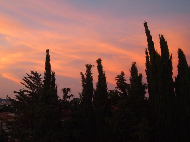 sunset in Mollina