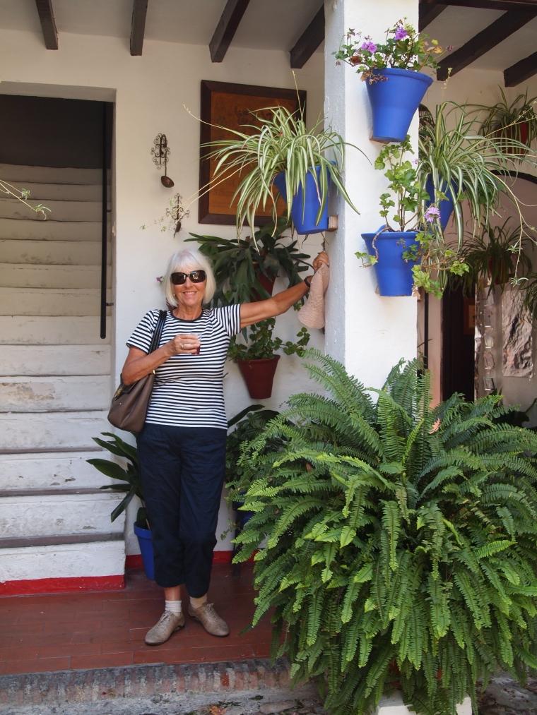 Carole on the patio