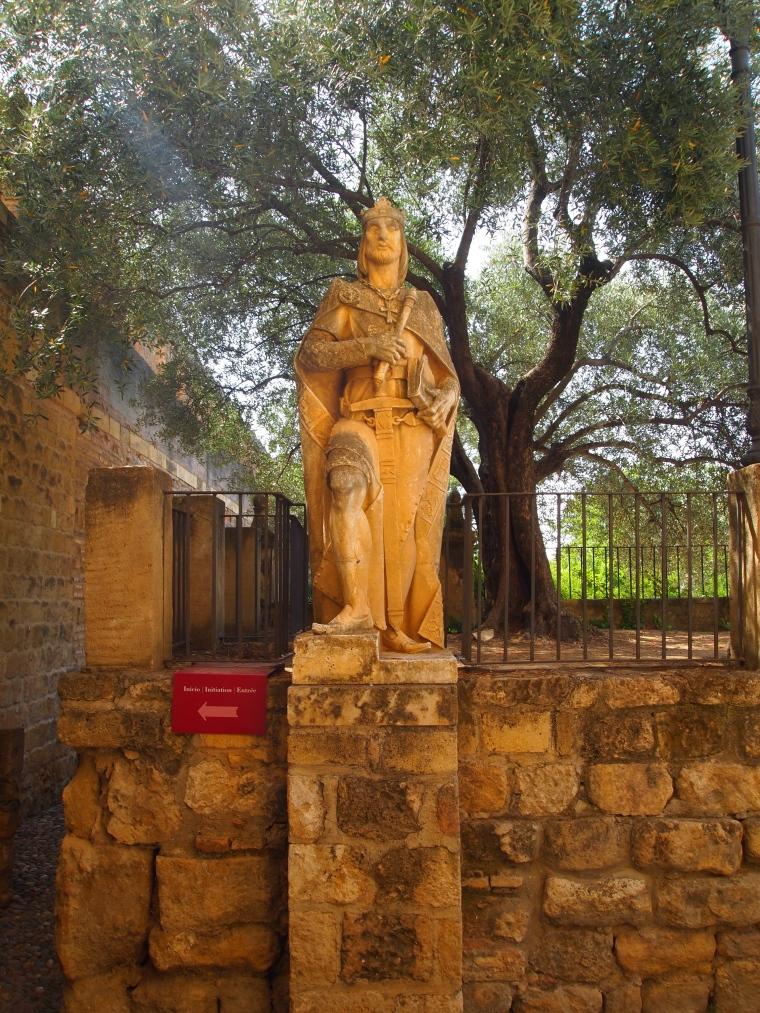 statue in the Alcázar de los Reyes Cristianos