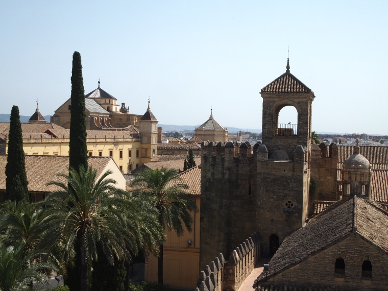skyline of the Alcázar de los Reyes Cristianos