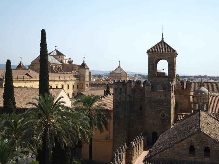 skyline of the Alcázar de los Reyes Cristianos