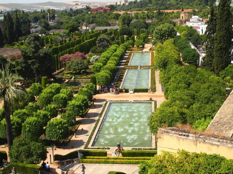 gardens & pools of the Alcázar de los Reyes Cristianos