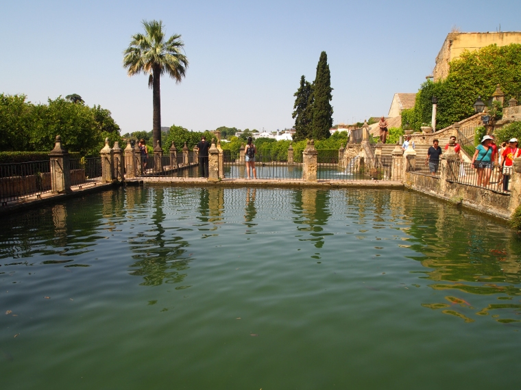 pools in the Alcázar de los Reyes Cristianos