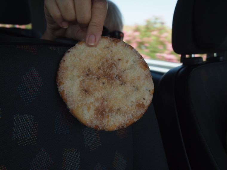 the sweet anise bread we share in the car
