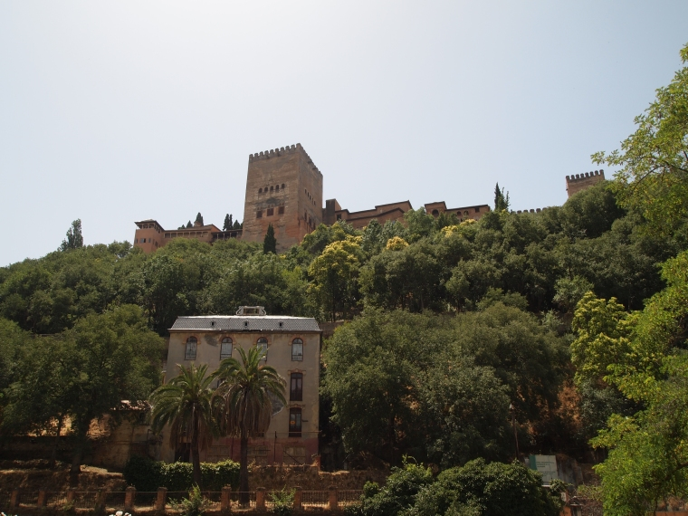 view of the Alhambra from our restaurant
