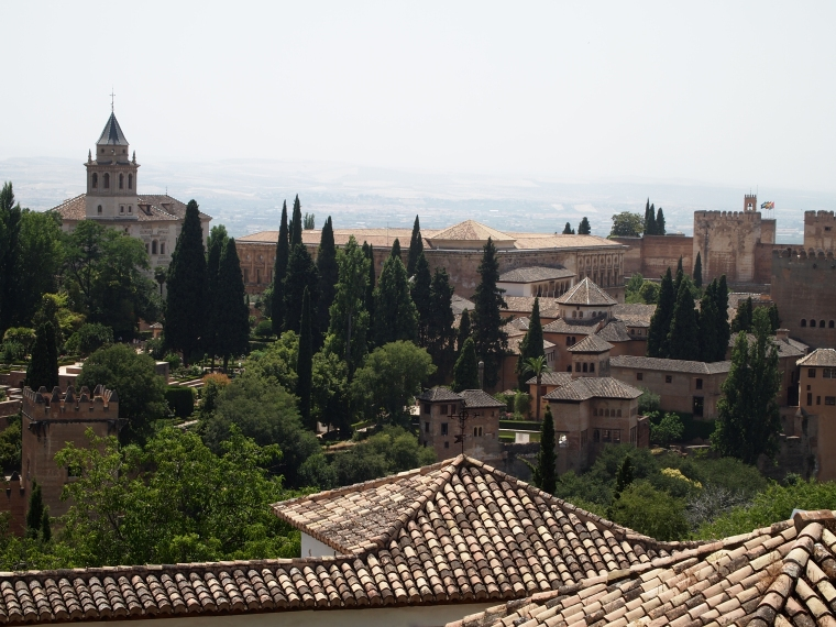 views of the Alcazaba from the Generalife