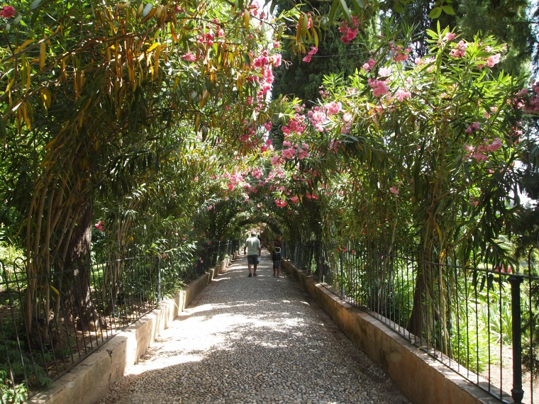the pathway to the Alcazaba