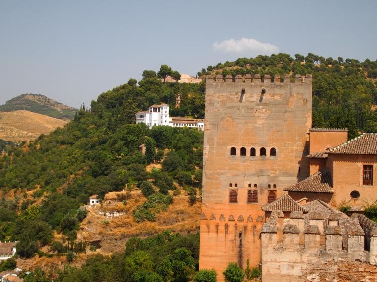 the Alcazaba at the Alhambra