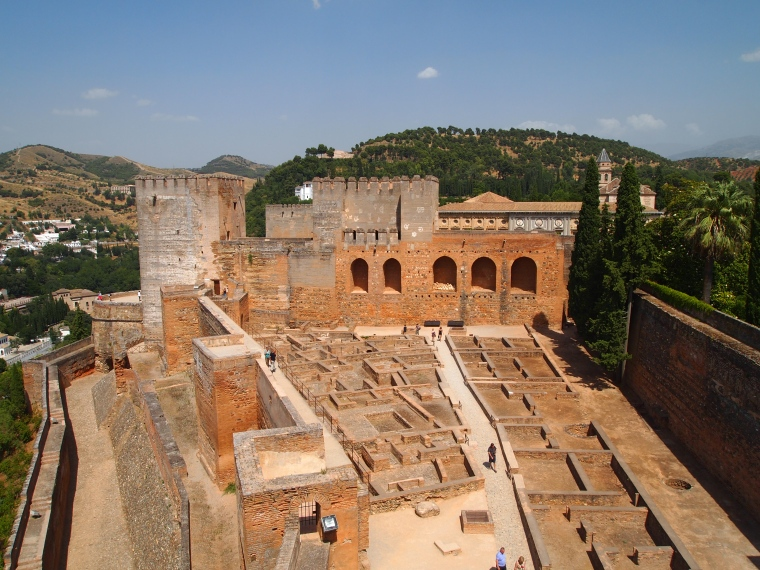 the Alcazaba at the Alhambra