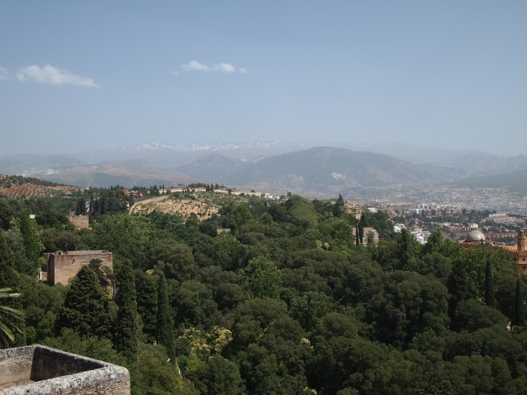 view from the Alcazaba at the Alhambra