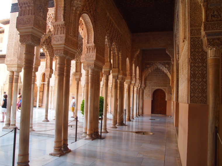 perimeter of the Patio of the Lions