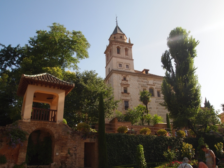 Leaving the Nasrid Palaces of the Alhambra