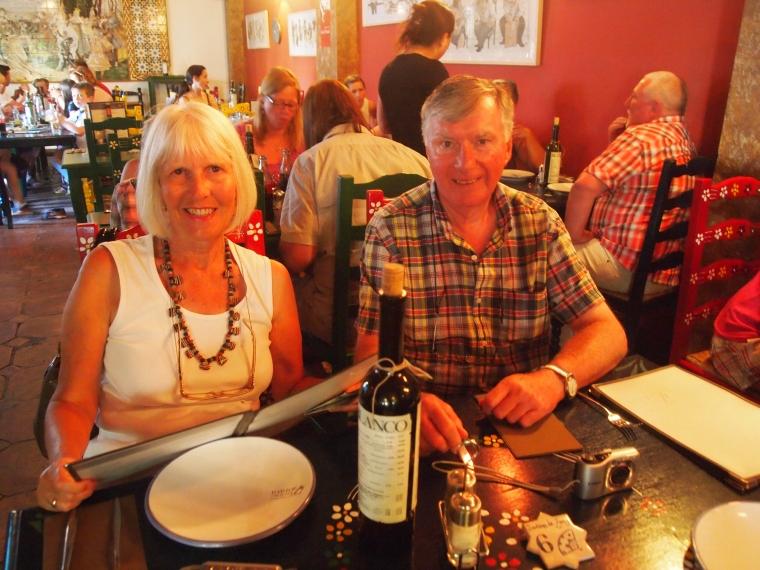 Carole and Barry at Jardines de Zoraya